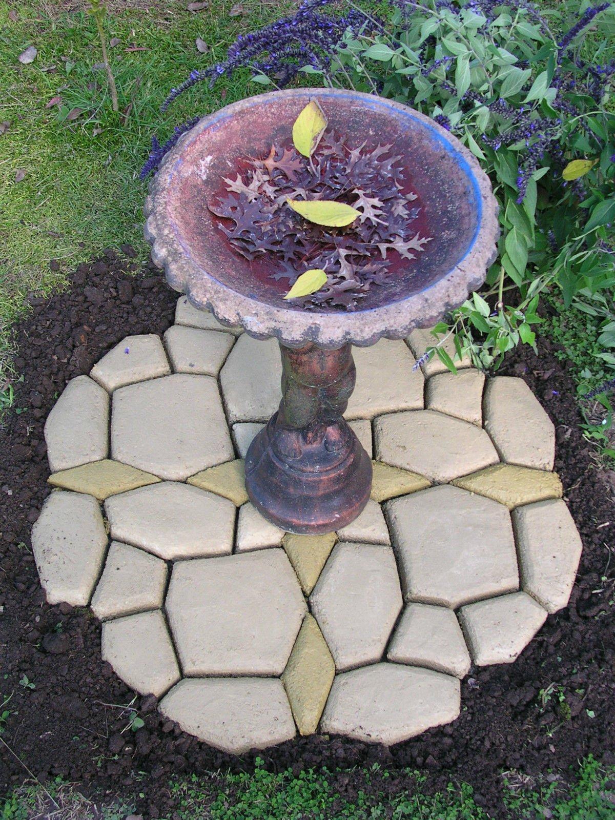 Molde de plástico para adoquines de acera o camino de jardín DIY, 50 x 50 x 4 cm: Amazon.es: Jardín