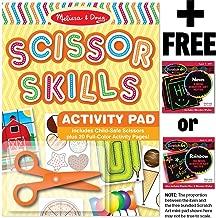 Melissa & Doug Scissor Skills Activity Pad & 1 Scratch Art Mini-Pad Bundle (02304)