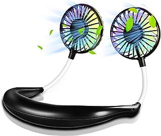 扇風機 携帯扇風機 首掛け 扇風機 卓上 扇風機 ポータブル 2019新開発 3段階風量調節 360°調節可能 7枚羽根 USB充電式