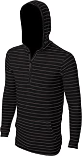 Enimay Men's Henley Raglan Lightweight Casual Pullover Long Sleeve Hoodie Men
