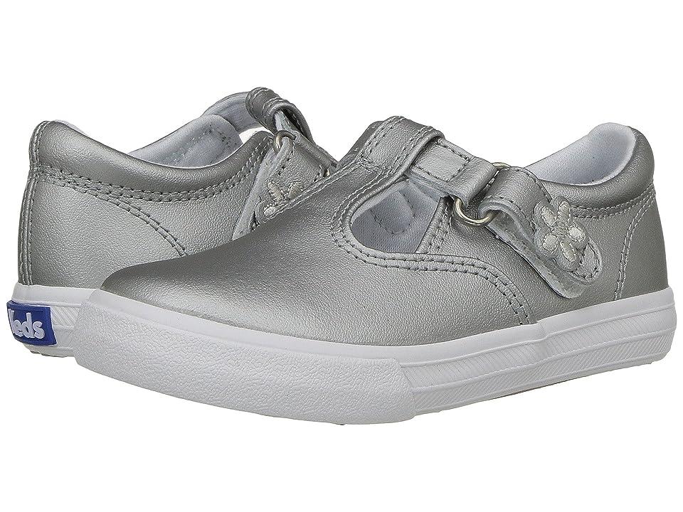 Keds Kids Daphne T-Strap 2 (Toddler/Little Kid) (Silver) Girls Shoes