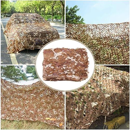 Filet de Camouflage Bcourir pour Le Jardin, Camouflage Renfort de Maillage Ombrageant la Couverture de Tente de Tentes de Filet de Prougeection Solaire de Filet pour l'ombre D'armée Armée Chasse Militaire