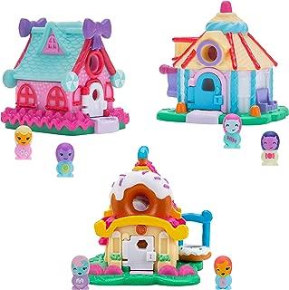 Nanables Small House Sweetness Town 3-Pack #1: Dusted Donut Diner, Lolli-Pop Stars Dance Studio, & Gumdrop Gazebo