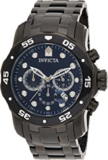 Invicta Mens Quartz Watch, Analog Display and Stainless Steel Strap 0076