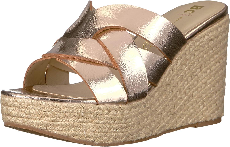 BC Footwear Womens Eden Espadrille Wedge Sandal