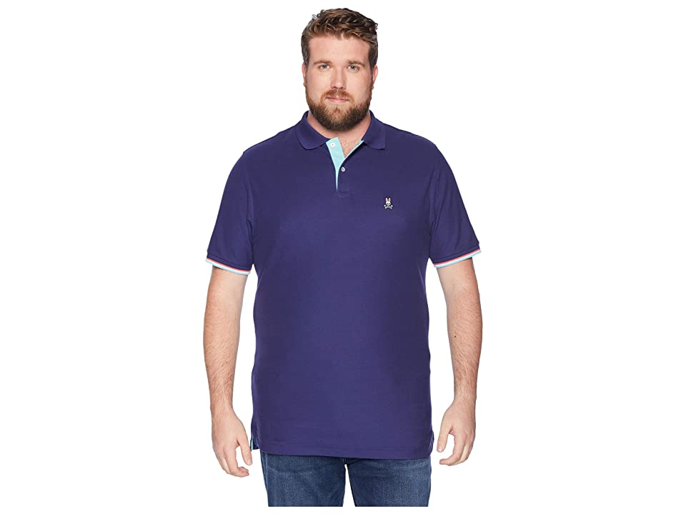 Psycho Bunny Big and Tall St Croix Polo (Ultra Marine) Men