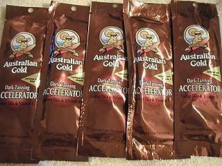 Australian Gold Dark Tanning Accelerator Lot of 5 Sample Packets .5 Fl Oz