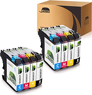 JARBO Compatible Ink Cartridge Replacement for LC203XL, 2 Sets, Used in MFC-J880DW MFC-J680DW MFC-J480DW MFC-J460DW MFC-J5520DW MFC-J4420DW MFC-J4620DW MFC-J5720DW MFC-5620DW
