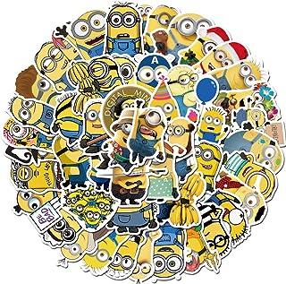 Cartoon Minions Stickers for Kids(50pcs Pack), Waterproof...
