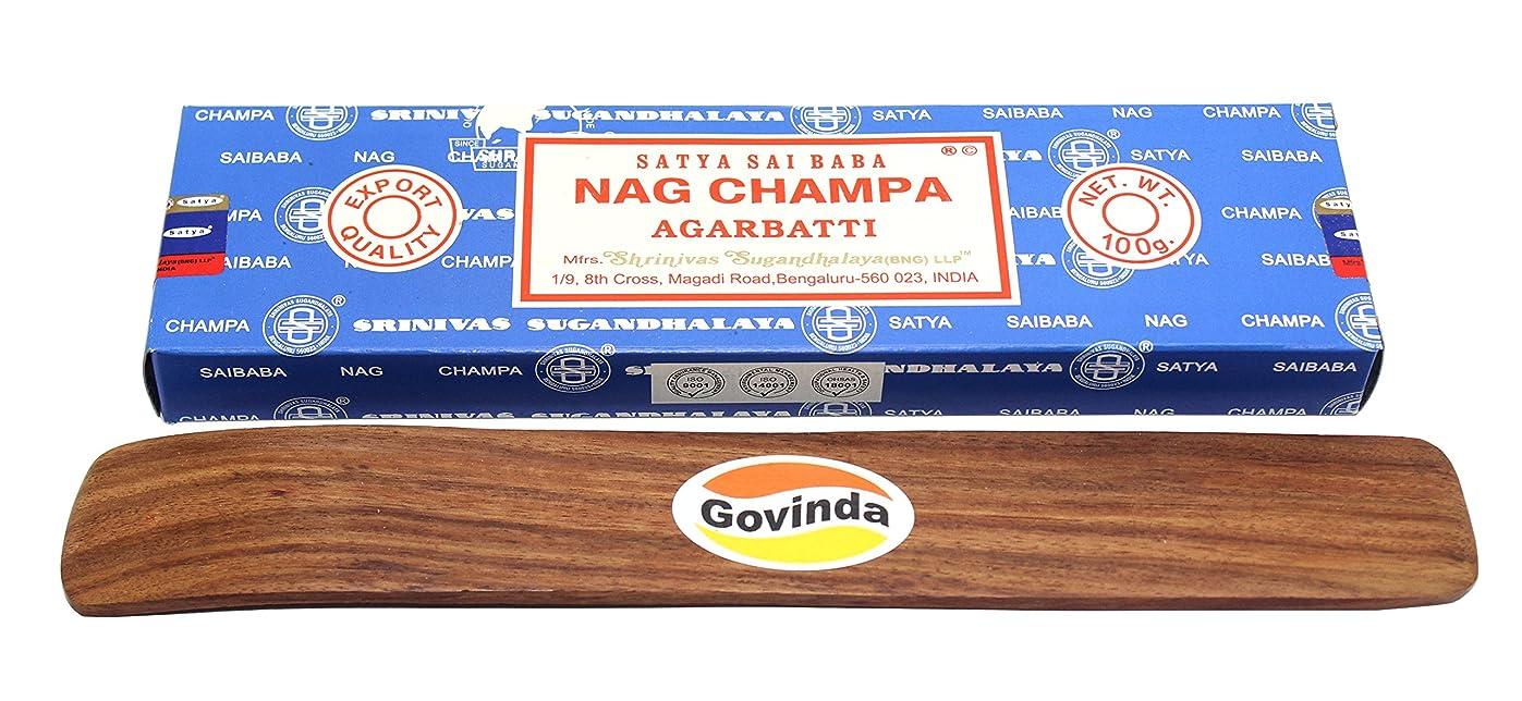 申請中外科医スラダムSatyaバンガロール(BNG) Nag Champa argarbatti 100グラムwith (Govinda Incense Holder)