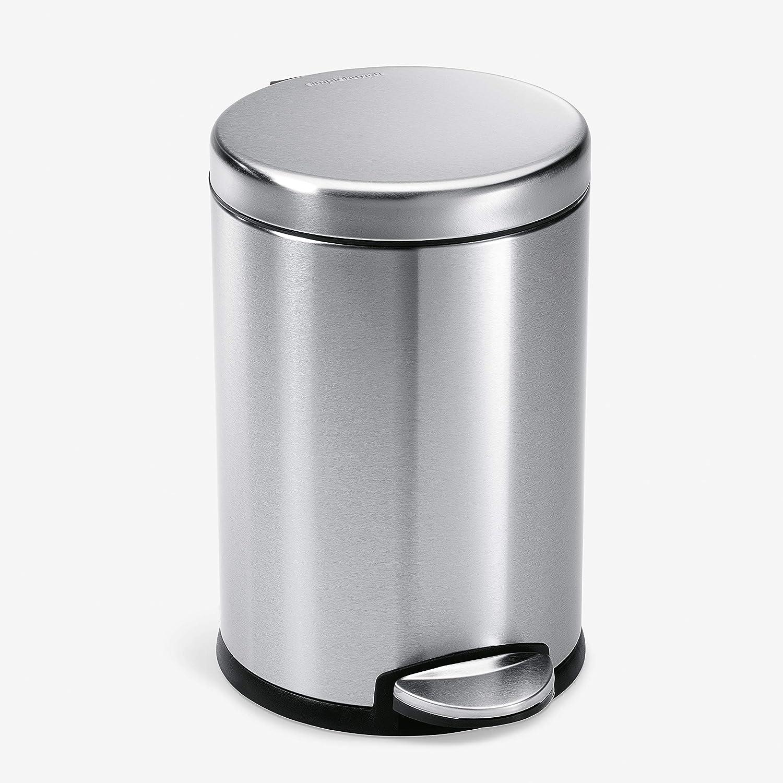 simplehuman 4.5 Liter 1.2 Gallon New product Can Award Trash Round Step Bathroom