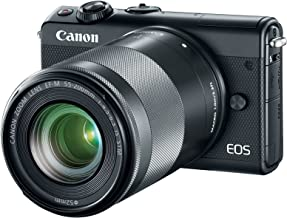 Canon EOS M100 Mirrorless Camera w/ 15-45mm Lens & 55-200mm Lens – Wi-Fi,..