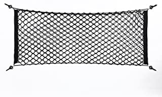 Broco Kofferraum Netz, verstellbares elastisches Kofferraum Aufbewahrungsnetz Nylon Netz hinten 100 x 40 cm Nylon Kunststoff schwarz Auto Aufbewahrungstasche LKW Gepäck Aufbewahrungsnetz