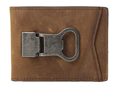 M&F Western Bifold Money Clip (Brown) Wallet Handbags