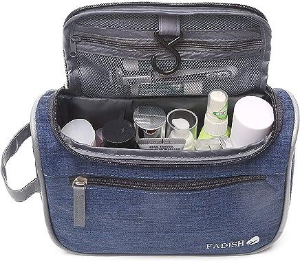 Juego de artículos de tocador para viajes, artículos de higiene personal para el baño y maquillaje para hombres y mujeres.