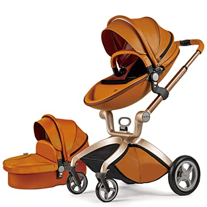 Hot Mom Baby Carriage with Bassinet Combo - Best Luxurious Stroller For 4-Year Old Toddler