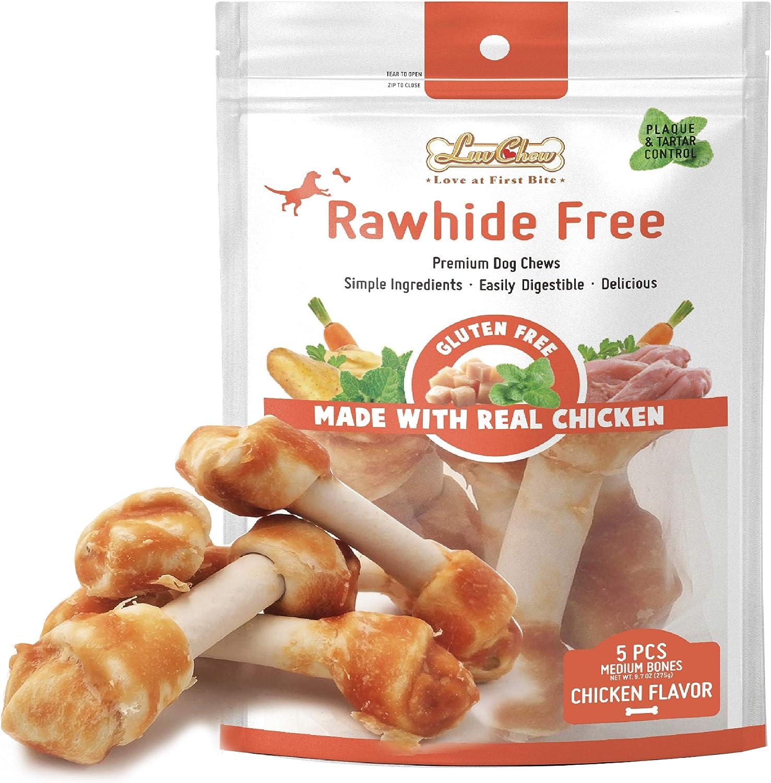 LuvChew Premium Chicken OFFicial Dog Chew Grain Bones Tucson Mall Free Rawhide