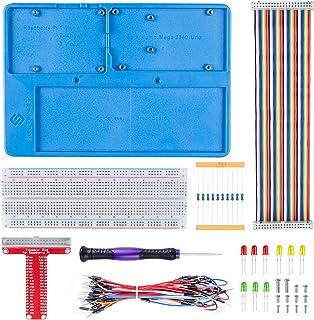 SunFounder Breadboard Kit RAB Holder, 830 Points Solderless Circuit Breadboard, Jumper Wires, LED, Resistors for Arduino R...