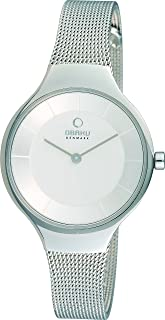Obaku Women's White Dial Stainless Steel Band Watch - V166LXCIMC