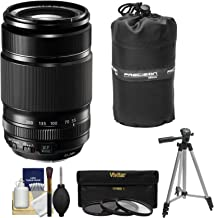Fujifilm 55-200mm f/3.5-4.8 XF R LM OIS Zoom Lens + 3 UV/CPL/ND8 Filters + Pouch + Tripod Kit for X-A2, X-E2, X-E2s, X-M1,...