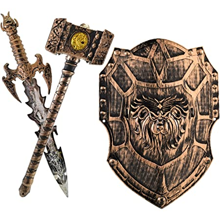 Sturdy Nylon Loops to Hold The it on Your arm from 3 Years on Legler Small Foot 3431 Set of 2 Wooden Knights Shield Adam