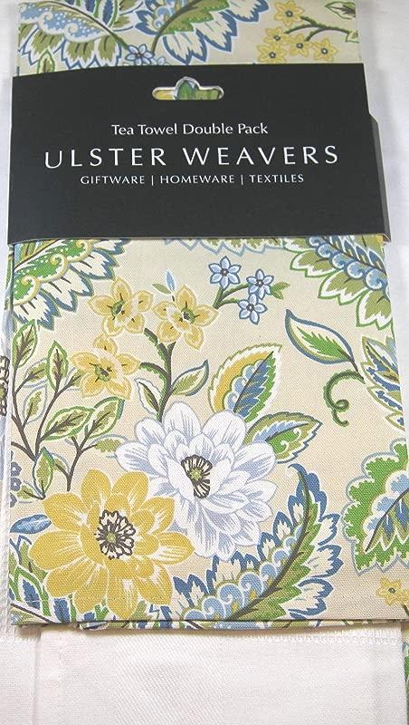 Ulster Weavers Set Of 2 Tea Towels Multi Color Floral 100 Cotton