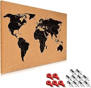 Navaris tablero de notas de corcho - tablero mapa del mundo