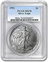 1991 silver eagle ms70
