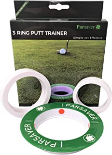 Players 3-Ring Putt Trainer - Simple Yet Effective - Visual Golf Pressure Putt Trainer - Golf Bag Accessory Putting Aid - A Must Have Golf Accessories - Golf Gift for Men Women