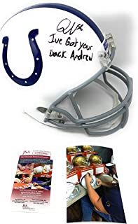 Quenton Nelson Indianapolis Colts Signed Autograph Full Size Helmet IVE GOT YOUR BACK ANDREW Inscribed JSA Witnessed Certified