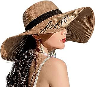 YASHIGE Womens Sun Straw Hat Wide Brim Floppy Foldable Adjustable Straw Weaved Travel Beach UV Summer Hat UPF50