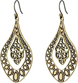 Lucky Brand - Sahara Dust Filigree Oblong Earring