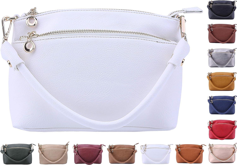 Solene Stylish Dome Top Handle handbag with Crossbody bag Purse with Multi Pockets