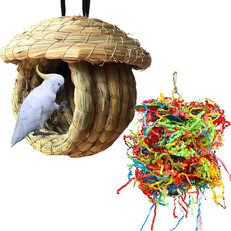 shipfree Hamiledyi Birdcage Straw Simulation It is very popular 100% Birdhouse Fiber Natural