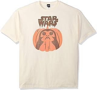 Star Wars Licensed Halloween PORG Pumpkin Men's Tee, Cream, Large