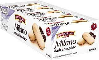 Pepperidge Farm Milano Cookies, Dark Chocolate, 2 Count, Pack of 10