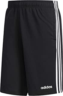 adidas Men's Essentials 3-stripes Single Jersey Shorts, Black/White, X-Large