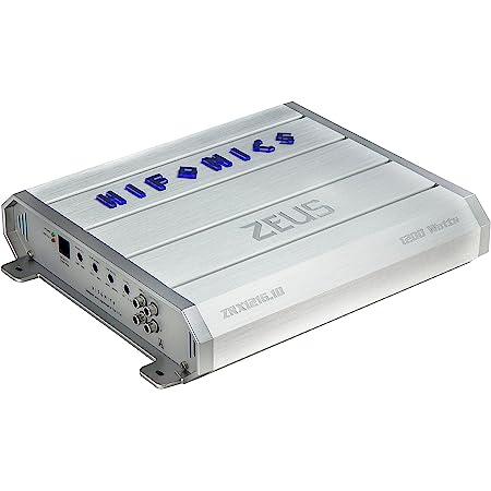 Hifonics ZEUS ZRX1216.1D Amplifier – 1200 Watt, Super Class D, Mono, Auto On, Nickel Plated, Remote Control, Aluminum Heat Sink