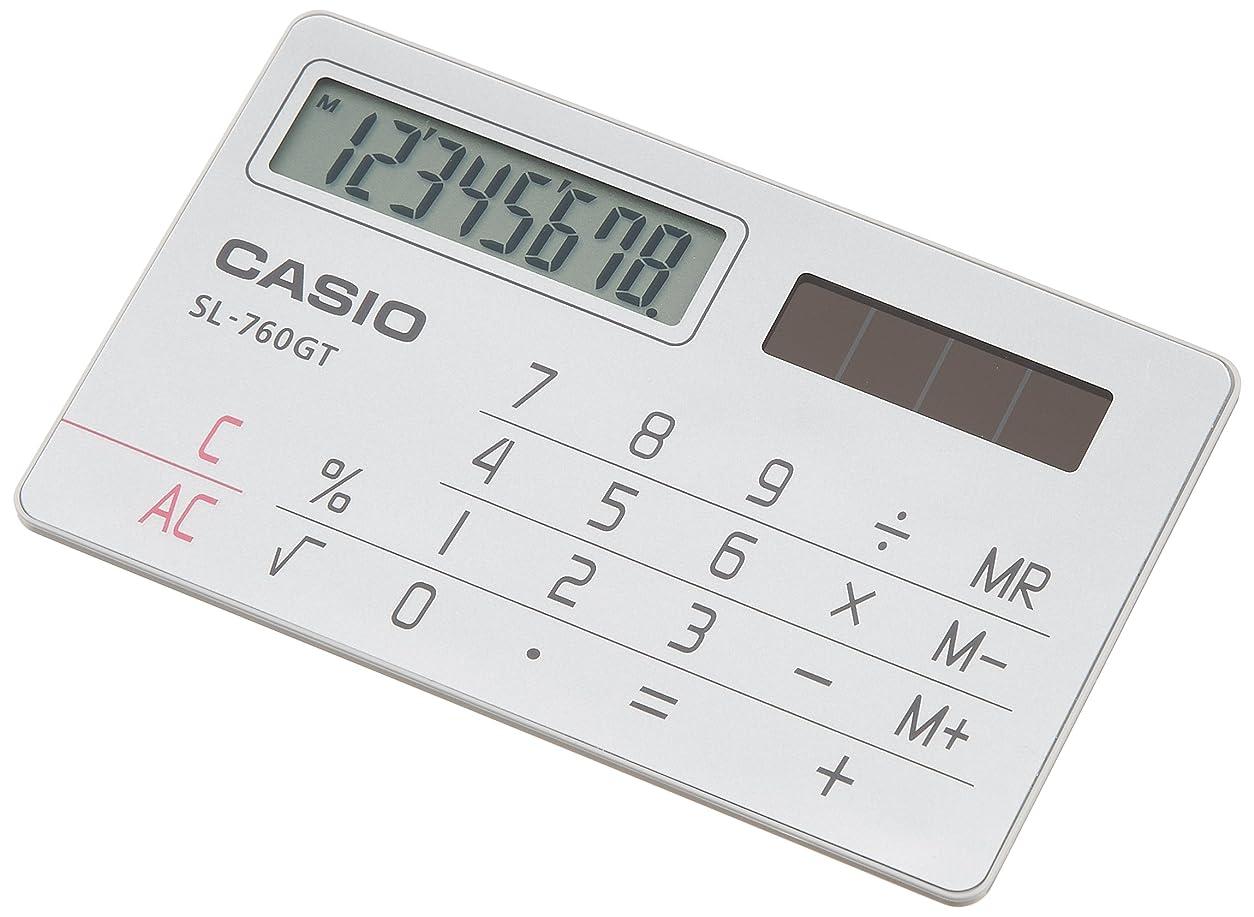 うるさいメダリストただやるカシオ パーソナル電卓 カードタイプ 8桁 SL-760GT-N