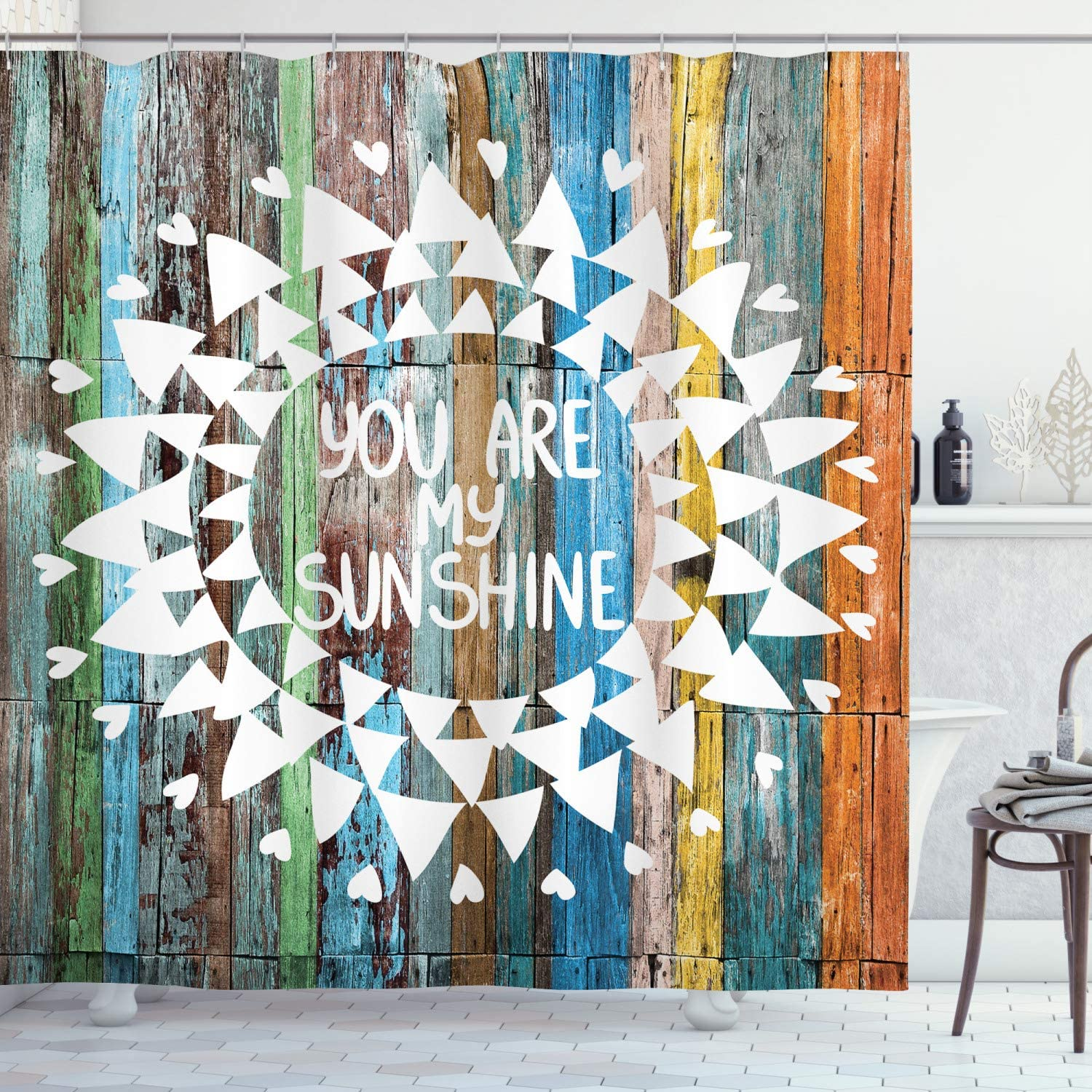 Lunarable You are My Sunshine Curtain Shower Words Romantic New product type A surprise price is realized