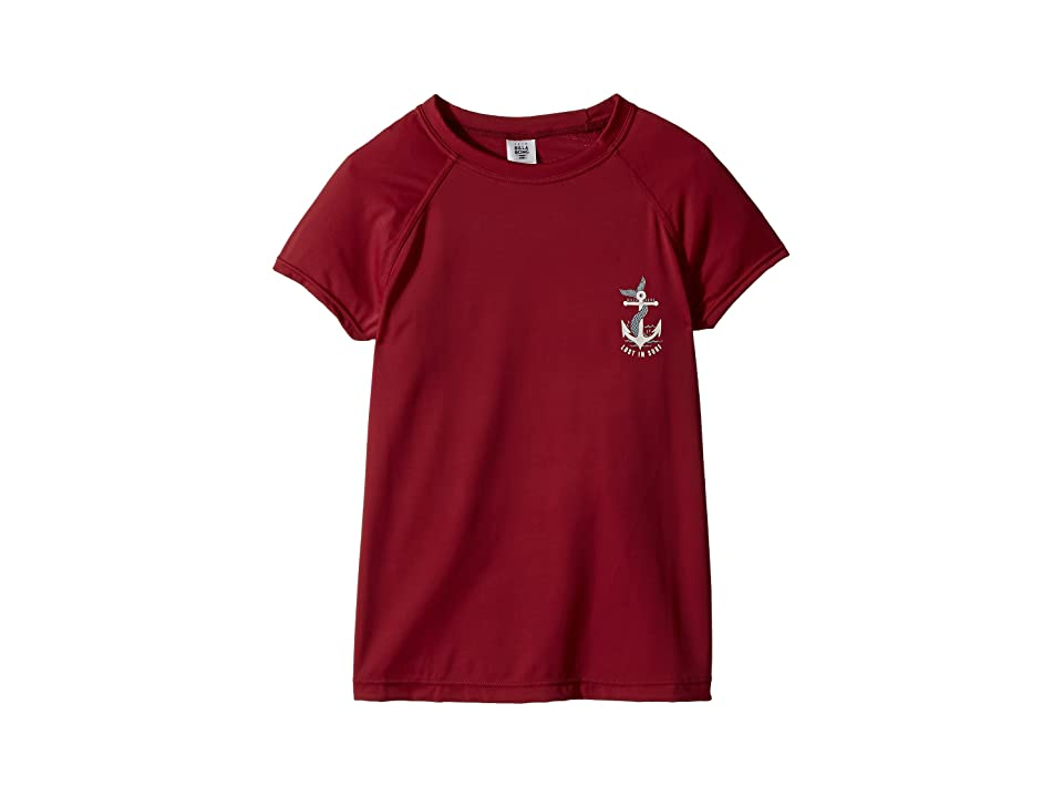 Billabong Kids Sol Searcher Short Sleeve Rashguard (Little Kids/Big Kids) (Raspberry) Girl
