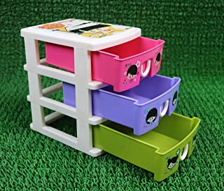 Perpetual Bliss Small Storage Box Organizer Drawer Pretend Play Toy for Kids Height 7 Inch