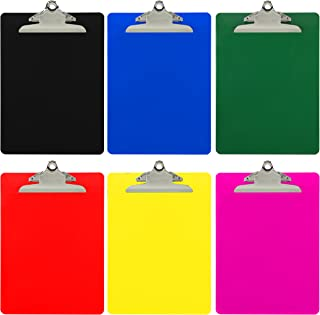 Trade Quest Plastic Clipboard Opaque Color Letter Size Standard Clip (Pack of 6) (Assorted)