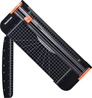WORKLION Paper Cutter - A4 Paper Craft Cutter with Security Blade for Cut Gift Card, Coupon, Label, Cardstock, Photo, 12 inch Black Office Paper Trimmer