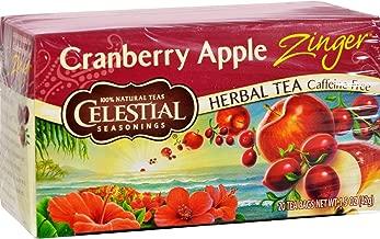 Celestial Seasonings Herbal Tea - Cranberry Apple Zinger - Caffeine Free - Natural - 20 Bags (Pack of 2)