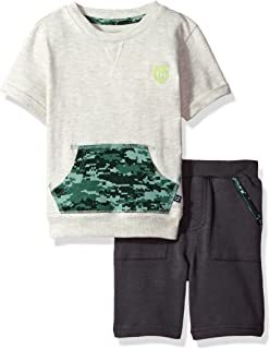 Cherokee Boys' Toddler Athletic Fashion Tee and Short Set