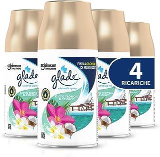 Glade Automatic Ricarica, Profumatore per Ambienti Spray Fragranza Exotic Tropical Blossom, Formato Scorta, 4 X 269 ml