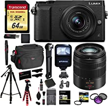 Panasonic LUMIX GX85 Mirrorless Camera with 12-32mm Lens (Black), Panasonic LUMIX G Vario 45-150mm Lens, Transcend 64 GB Memory Card, Polaroid 57