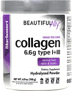 Bluebonnet Nutrition Beautiful Ally Collagen Powder, Hydrolyzed Collagen from Grass Fed Cows, Collagen Peptides Type 1 & 3...