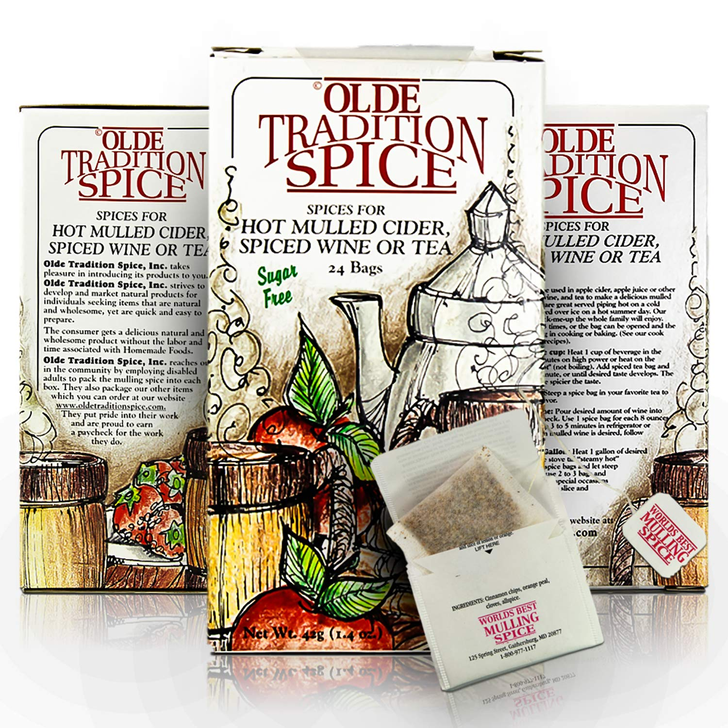 Olde Tradition Spice: Mulling Spices in Tea Bags for Hot Apple C